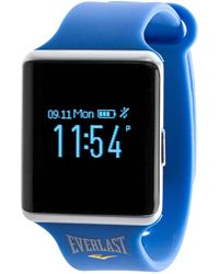 Everlast Tr10 Activity Tracker With Heart Rate & Blood Pressure Monitor - Includes Caller Id And Message Previews - Blue