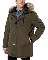 Guess Heavy Weight Parka Jacket - Green
