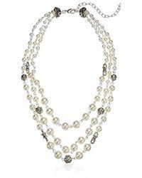 Napier - Pearl Multirow Collar Necklace - Lyst