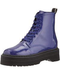 Armani Exchange   Ptent Jcqurd Strp Combt Boot - Blue
