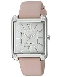 Nine West Nw/2116 Strap Watch - Metallic