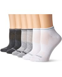 Skechers Non Terry Low Cut Sock 6 Pack - Gray