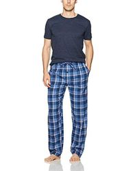 Ben Sherman Tee & Flannel Set - Blue