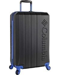 Columbia Luggage Fort Yam Hill 24 Inch Hardside Checked Spinner Luggage - Black