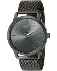Steve Madden Analog Japanese Quartz Watch With Alloy Strap Smmw002bk - Black
