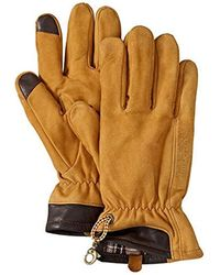 Timberland Nubuck Leather Boot Gloves - Brown