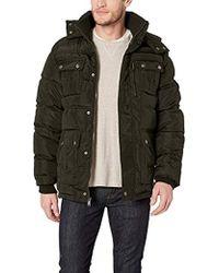 Ben Sherman Hooded Bubble Jacket - Black