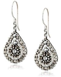 Miguel Ases - Pyrite Bead And Sterling Silver Mini Teardrop Earrings - Lyst
