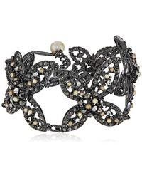 Badgley Mischka - Floral X Bracelet - Lyst