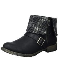 Rocket Dog Bentley Lewis Pu/randy Fabric Ankle Boot - Black