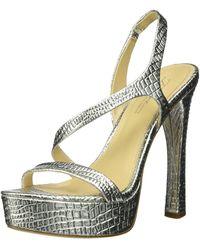Imagine Vince Camuto Prent Heeled Sandal - Metallic