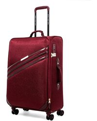 Marc New York Valentina Expandable Softside Spinner Luggage With Tsa Lock - Red