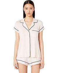 12bd2bba463 Eberjey - Gisele Two-piece Short Sleeve   Short Pajama Sleepwear Set - Lyst