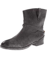 Frye Lindsay Plate Short Boot - Black