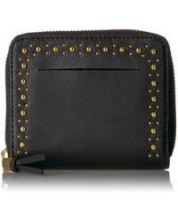 Cole Haan Marli Stud Small Zip Around Wallet - Black