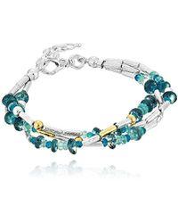Gurhan - Vertigo Flurries Collection Sterling Silver Triple Strand Bead Strand Bracelet, Adjustable - Lyst