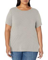 Amazon Essentials Plus Size Short-sleeve Crewneck T-shirt - Gray