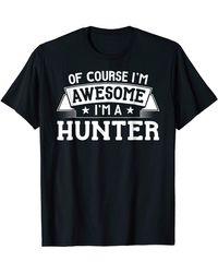 HUNTER Shirt First Or Last Name - Of Course I'm - Blue