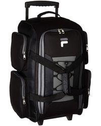 "Fila 22"" Lightweight Carry On Rolling Duffel Bag - Black"