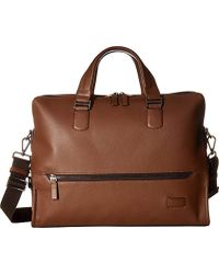 Tumi - Harrison Horton Double-zip Leather Briefcase - Lyst