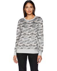 Amazon Essentials Sweat-shirt à col rond en polaire et tissu-éponge pour femme - Gris