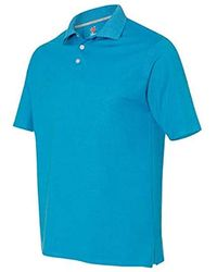 Hanes X-temp Performance Polo Shirt (1 Pack Or 2 Pack) - Blue