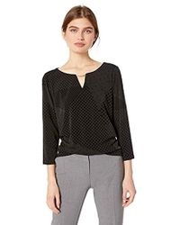 Calvin Klein - 3/4 Sleeve With Flocked Sweater - Lyst