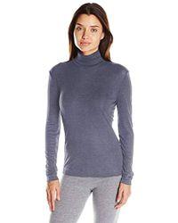 Hanro Silk Cashmere Turtleneck Shirt - Blue
