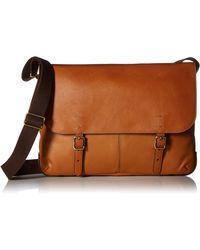 Fossil Buckner Laptop Messenger Bag - Brown