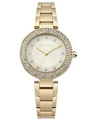 Karen Millen Crystal Embellished Watch - Gold Color - Metallic