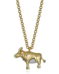 Kate Spade - Spirit Animals Pendant Necklace - Lyst