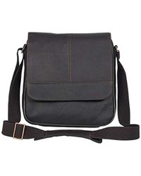 Kenneth Cole Reaction Manhattan Full-grain Colombian Leather Anti-theft Rfid Crossbody Tablet Bag - Brown