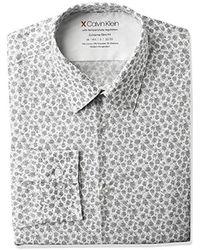 Calvin Klein - Dress Shirt Xtreme Slim Fit-thermal Stretch Print - Lyst