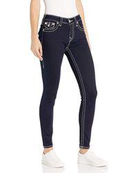 True Religion Jennie Curvy Skinny Jean - Blue
