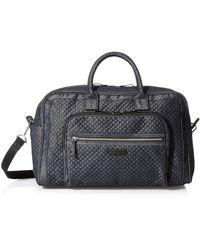 Vera Bradley Denim Compact Weekender Travel Bag - Blue