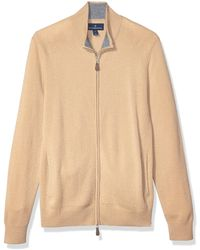 Buttoned Down Cashmere Full-zip - Natural