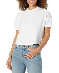 AG Jeans Drew Crop Tee - White