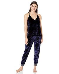 Splendid - Button Up Long Sleeve Top And Bottom Velvet Pajama Set Pj - Lyst