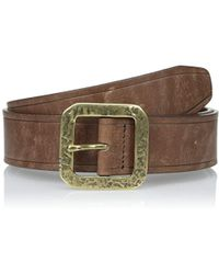 John Varvatos - Edge Heat-creased Leather Belt - Lyst