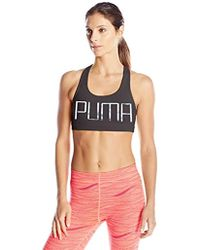 bb656a3b20e8d Lyst - Puma Select Powershape Forever Logo Sports Bra in Black