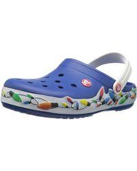 Crocs™ Crocband Holiday Lights Clog Mule - Blue