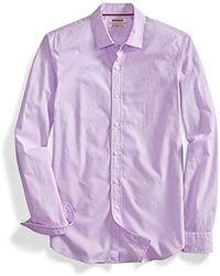 Goodthreads Amazon Brand - Slim-fit Long-sleeve Solid Poplin Shirt - Purple