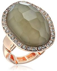 T Tahari - Mystic Sands Framed Large Stone Cocktail Ring, Rose Gold, Expandable - Lyst