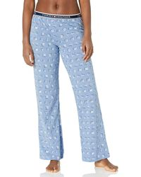 Tommy Hilfiger Logo Bottom Lounge Pajama Pant Pj - Blue
