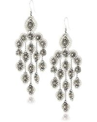 Miguel Ases - Pyrite Bead And Sterling Silver Station Dangle Earrings - Lyst