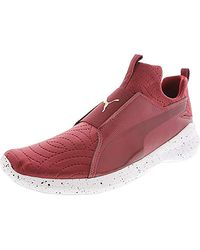13c79039 PUMA Rebel Mid Speckled Women's Training Shoes in Red - Lyst