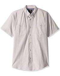 Lee Jeans Short Sve Button Down Dress Shirt Camp Regular Big Tall - Multicolor