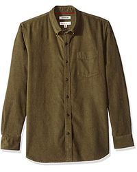 Goodthreads Amazon Brand - Standard-fit Long-sleeve Corduroy Shirt - Green