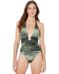 Rachel Roy Cut Out Strappy T-Back Racerback One Piece Swimsuit Wine SM
