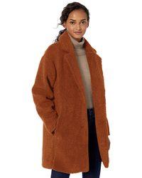 Daily Ritual Teddy Bear Fleece Oversized-fit Lapel - Brown